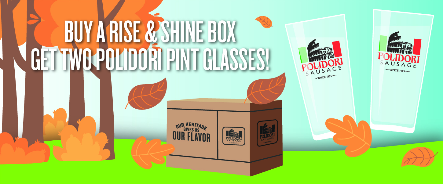 Buy A Rise & Shine Box Get Two Polidori Pint Glasses!
