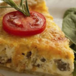 Apple sausage quiche recipe