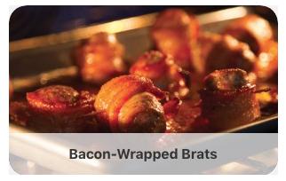 Bacon-wrapped brats recipe